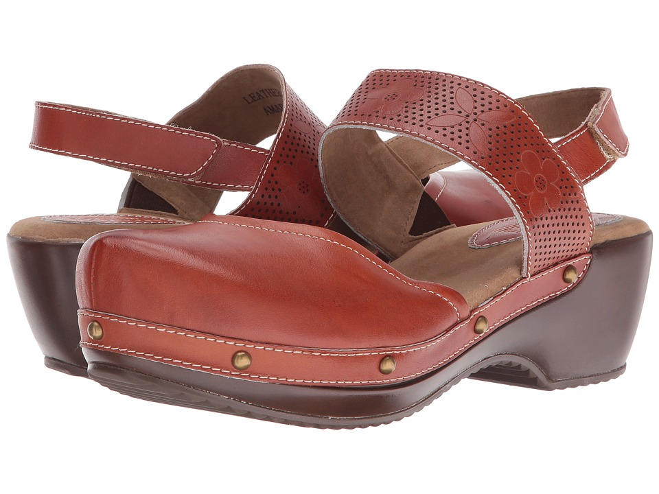 Spring Step - Amadi (Camel) Women's Clog/Mule Shoes