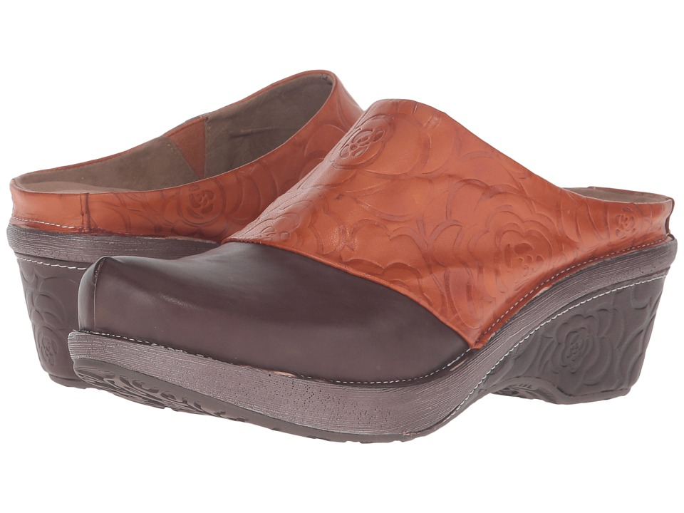 Spring Step - Bande (Brown) Women's Clog/Mule Shoes
