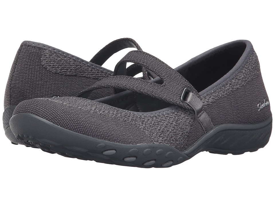 SKECHERS - Active Breathe Easy - Lucky Lady (Charcoal) Women's Shoes