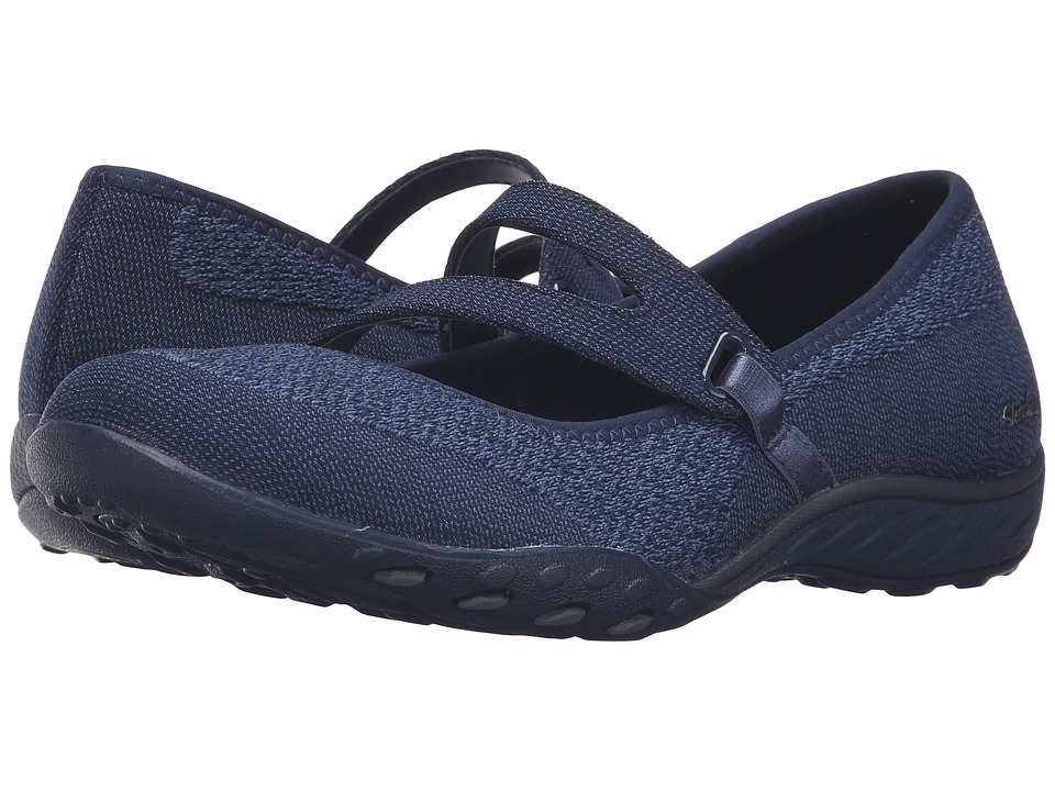 SKECHERS - Active Breathe Easy - Lucky Lady (Navy) Women's Shoes
