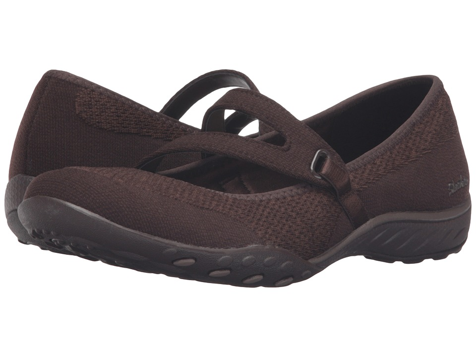 SKECHERS - Active Breathe Easy - Lucky Lady (Chocolate) Women's Shoes