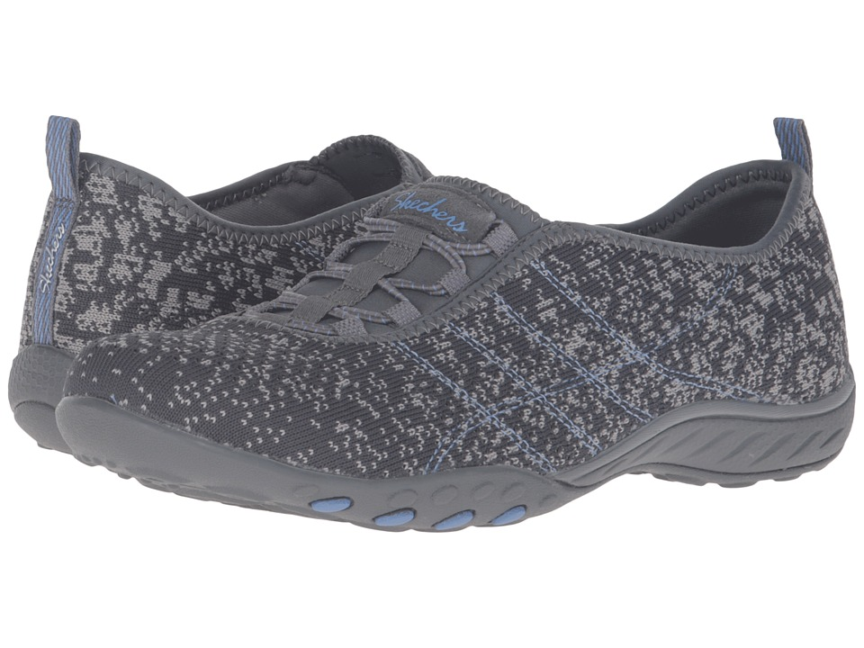 SKECHERS - Active Breathe Easy - Just Chillin' (Charcoal) Women's Shoes