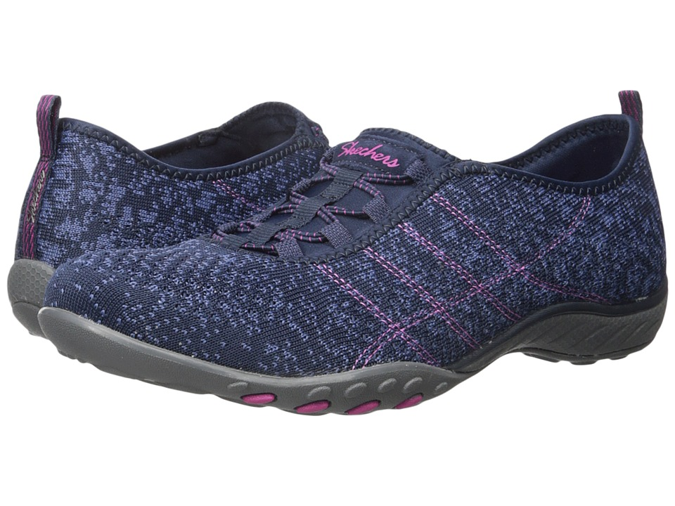 SKECHERS - Active Breathe Easy - Just Chillin' (Navy) Women's Shoes