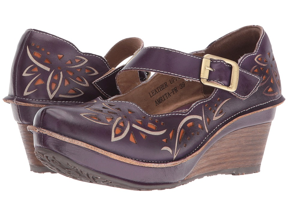 Spring Step - Amrita (Purple) Women's Maryjane Shoes