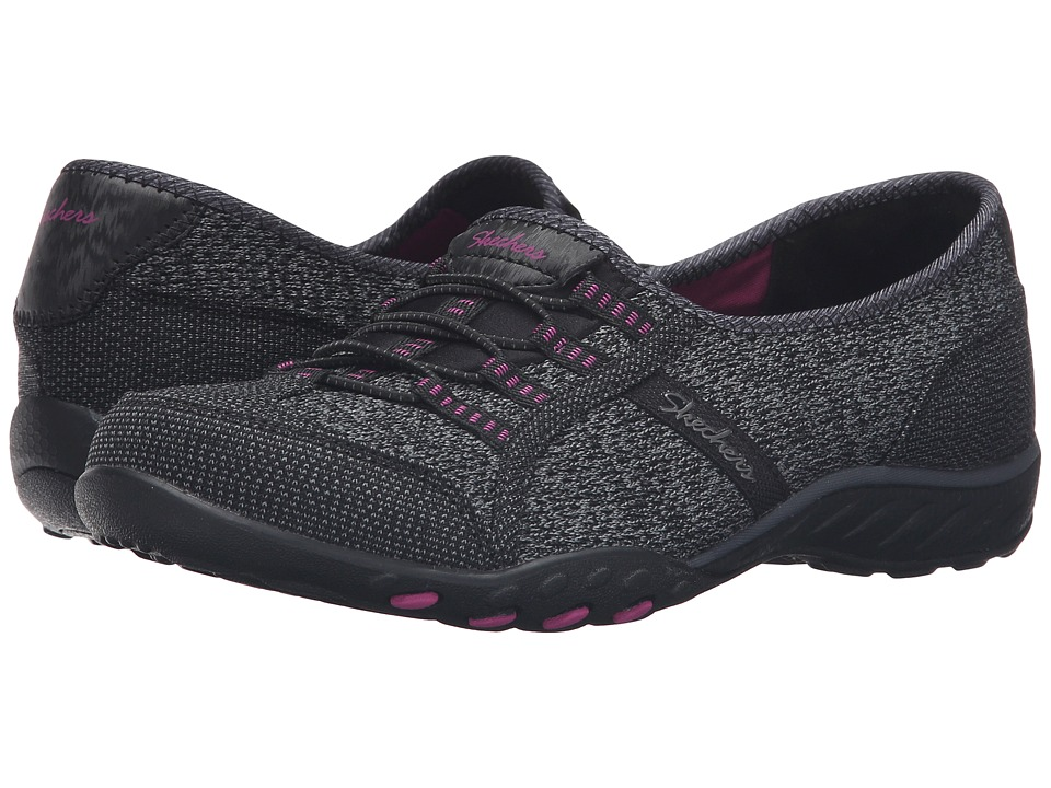 SKECHERS - Active Breathe Easy - Save-The-Day (Black) Women's Shoes