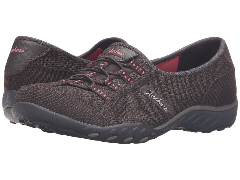 SKECHERS - Active Breathe Easy - Save-The-Day (Chocolate) Women's Shoes