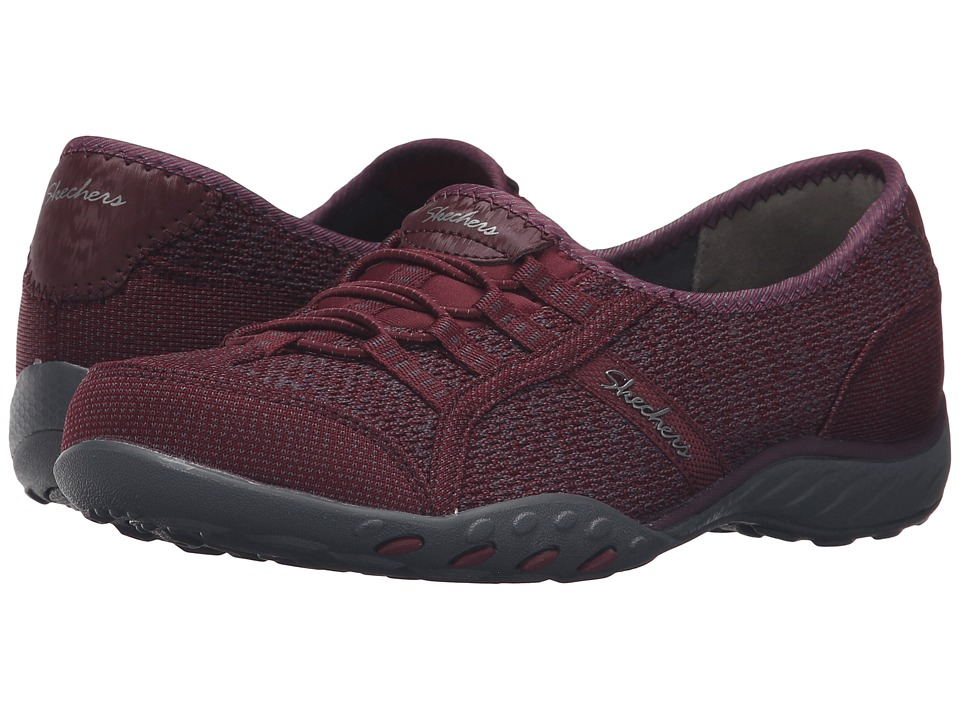 SKECHERS - Active Breathe Easy - Save-The-Day (Burgundy) Women's Shoes