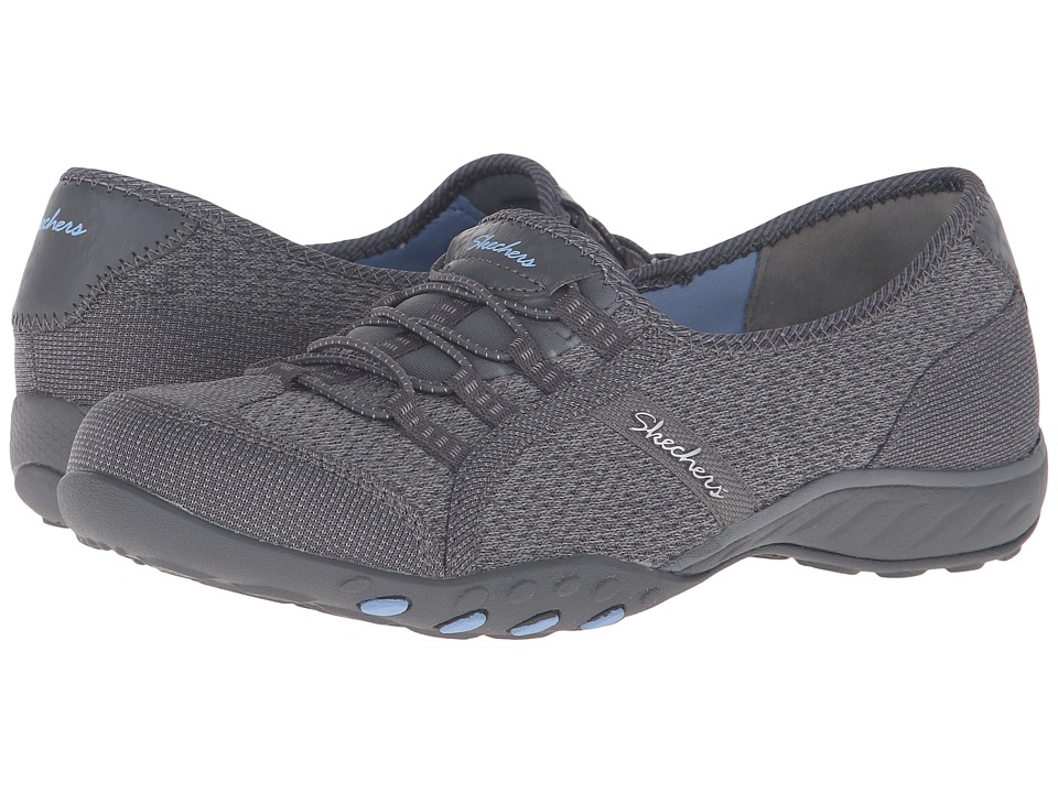 SKECHERS - Active Breathe Easy - Save-The-Day (Charcoal) Women's Shoes