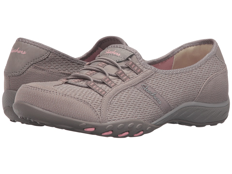 SKECHERS - Active Breathe Easy - Save-The-Day (Taupe) Women's Shoes