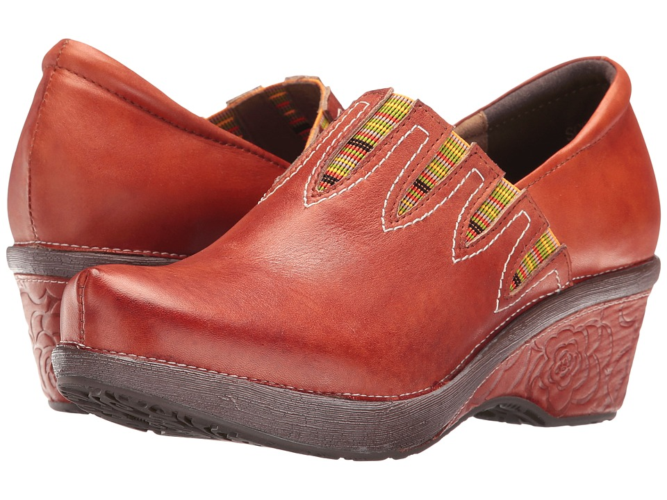 Spring Step - Scribble (Camel) Women's Clog Shoes