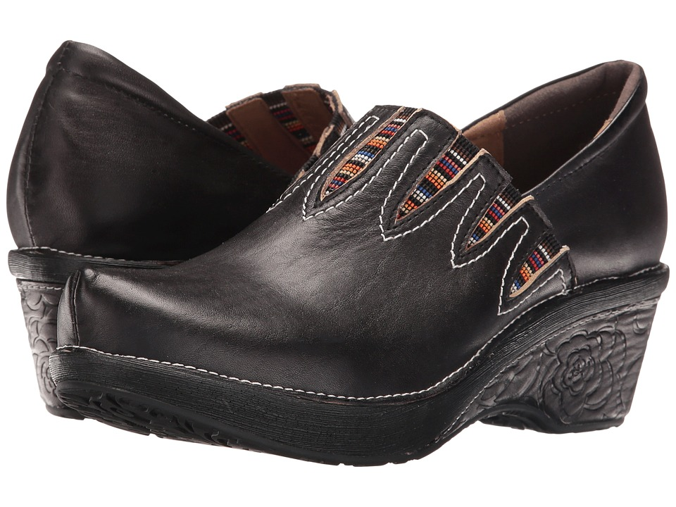 Spring Step - Scribble (Black) Women's Clog Shoes