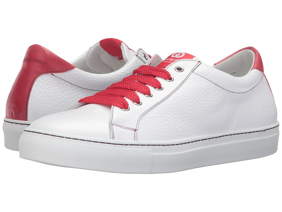 Gold & Gravy - Uptown (White/Red) Men's Shoes