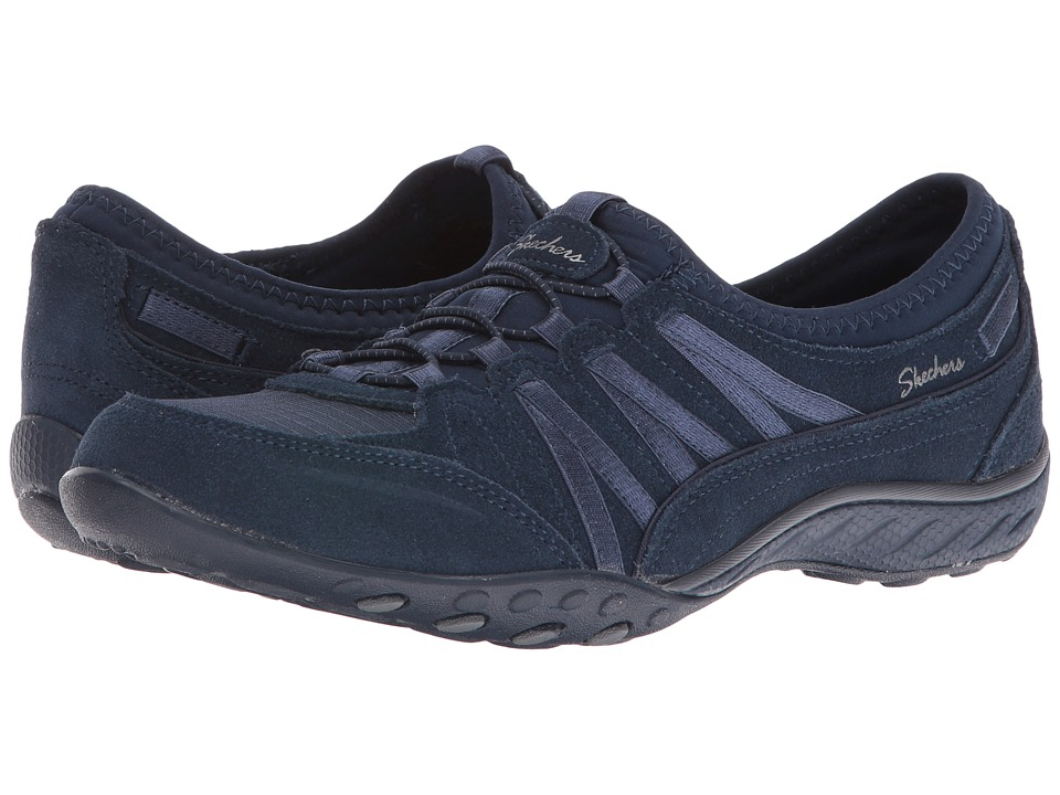 SKECHERS - Active Breathe Easy - Easy Moneybags (Navy) Women's Shoes
