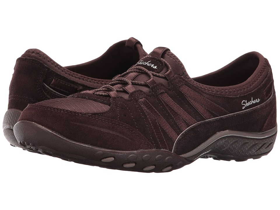 SKECHERS - Active Breathe Easy - Easy Moneybags (Chocolate) Women's Shoes