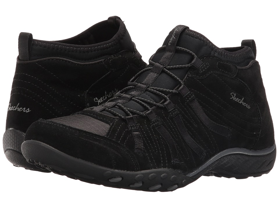 SKECHERS - Active Breathe Easy - Established (Black) Women's Shoes
