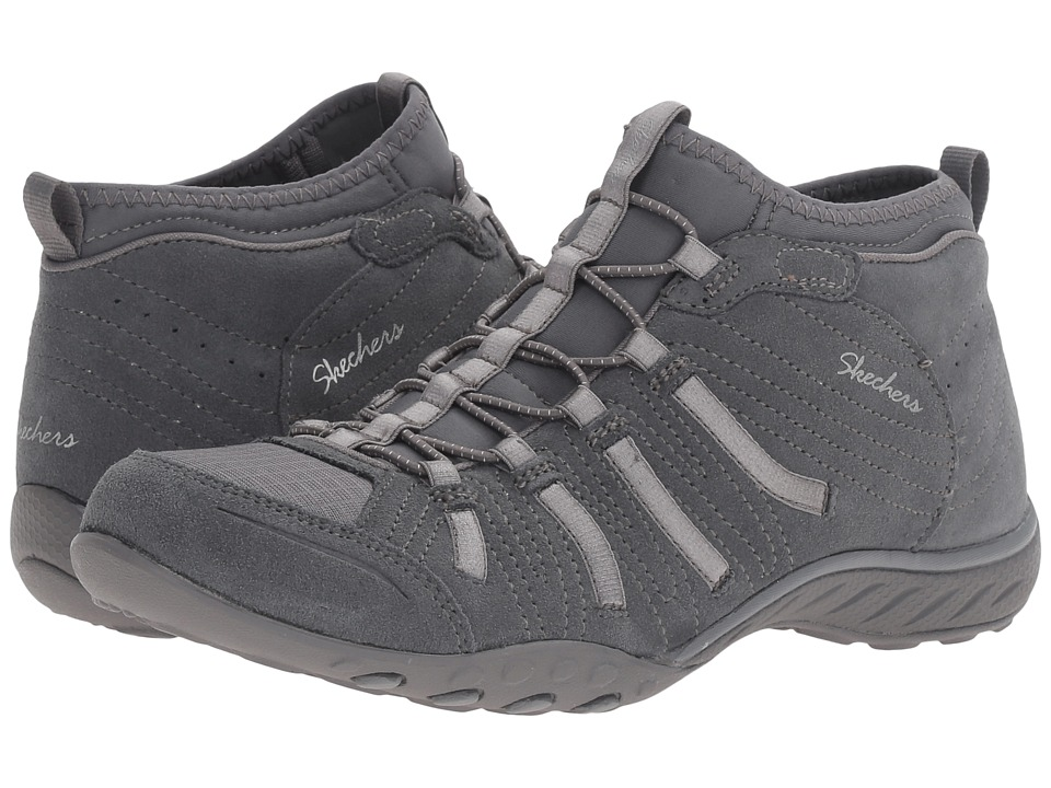 SKECHERS - Active Breathe Easy - Established (Charcoal) Women's Shoes