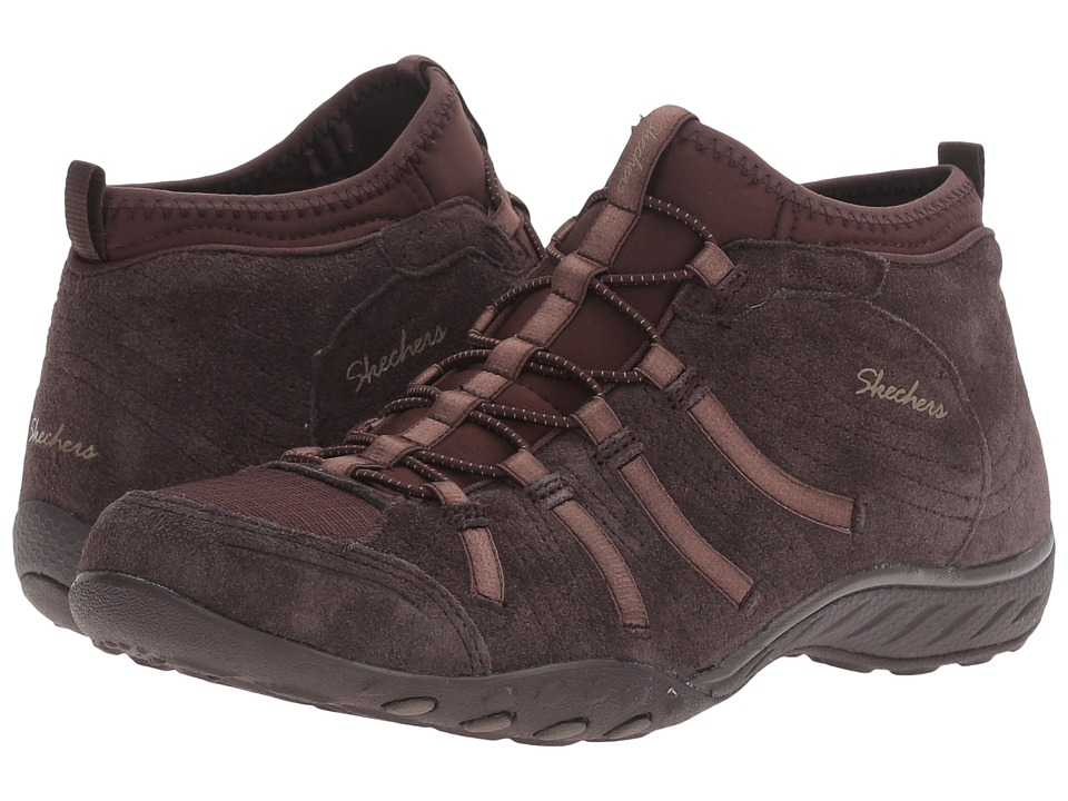 SKECHERS - Active Breathe Easy - Established (Chocolate) Women's Shoes