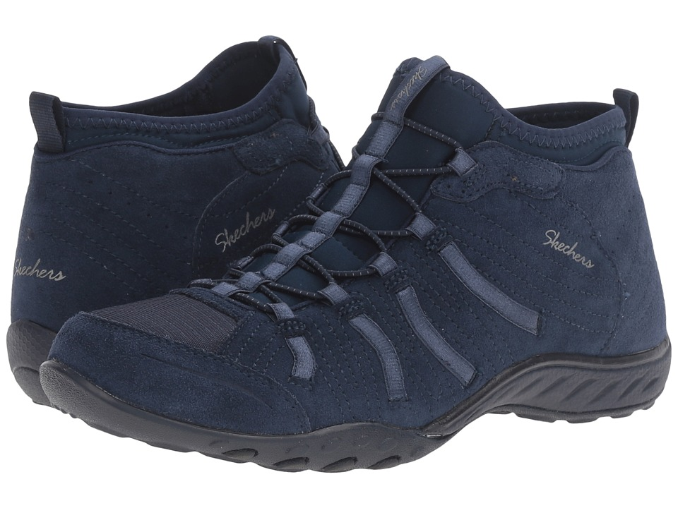 SKECHERS - Active Breathe Easy - Established (Navy) Women's Shoes