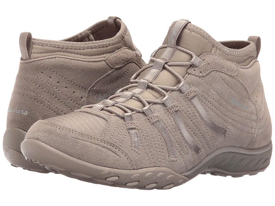 SKECHERS - Active Breathe Easy - Established (Taupe) Women's Shoes