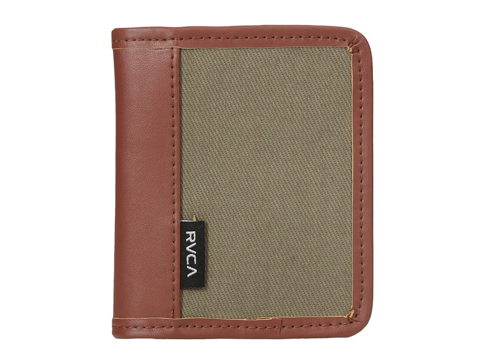 RVCA - Stockholm Wallet (Dark Khaki) Wallet Handbags