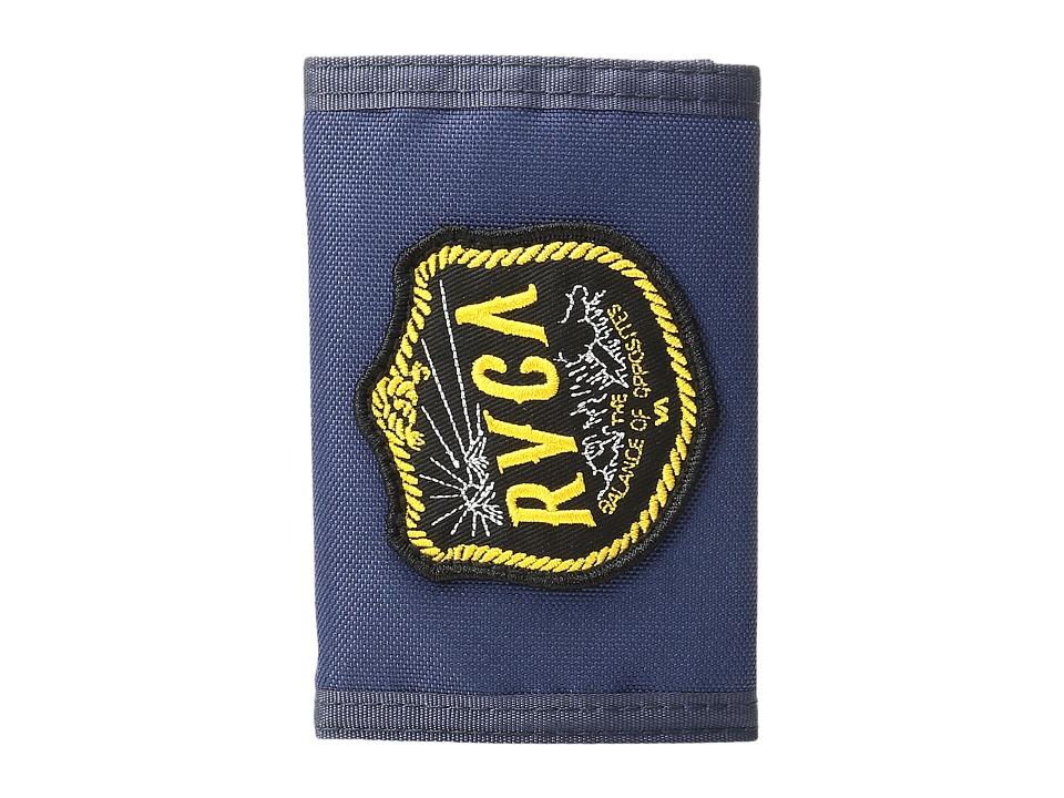 RVCA - Segnar Nylon Wallet (Navy) Wallet Handbags