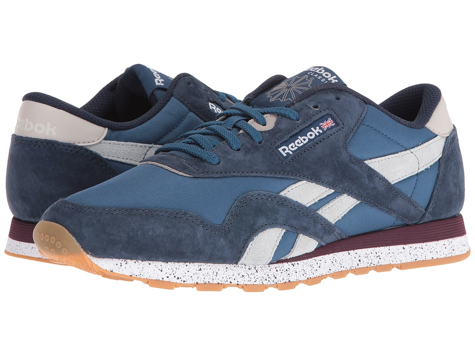 Reebok - Classic Nylon OE (Noble Blue/Collegiate Navy/White/Beachstone/Mysmrn/Cld Grey) Men's Shoes