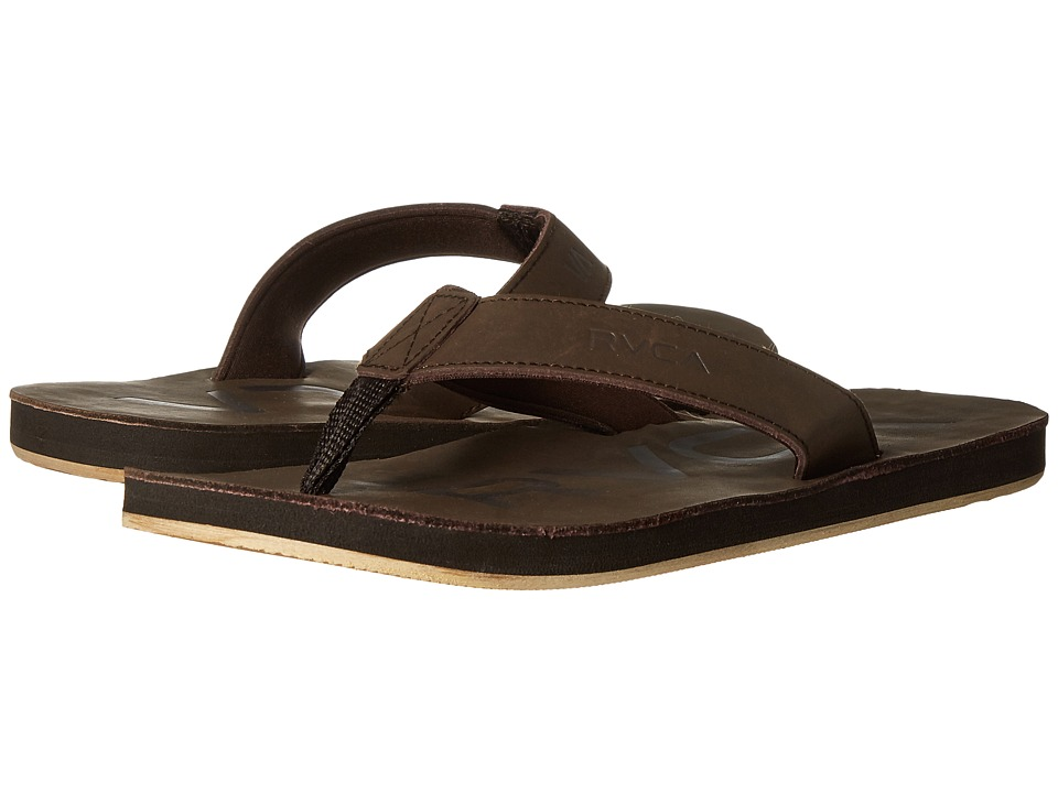 RVCA - Federal Sandal (Dark Brown) Men's Sandals