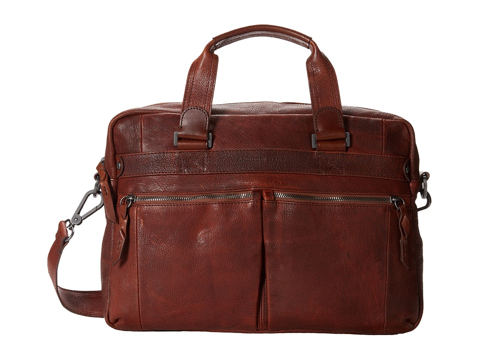 Marc New York by Andrew Marc - Bowery Top Handle Briefcase (Cognac) Briefcase Bags