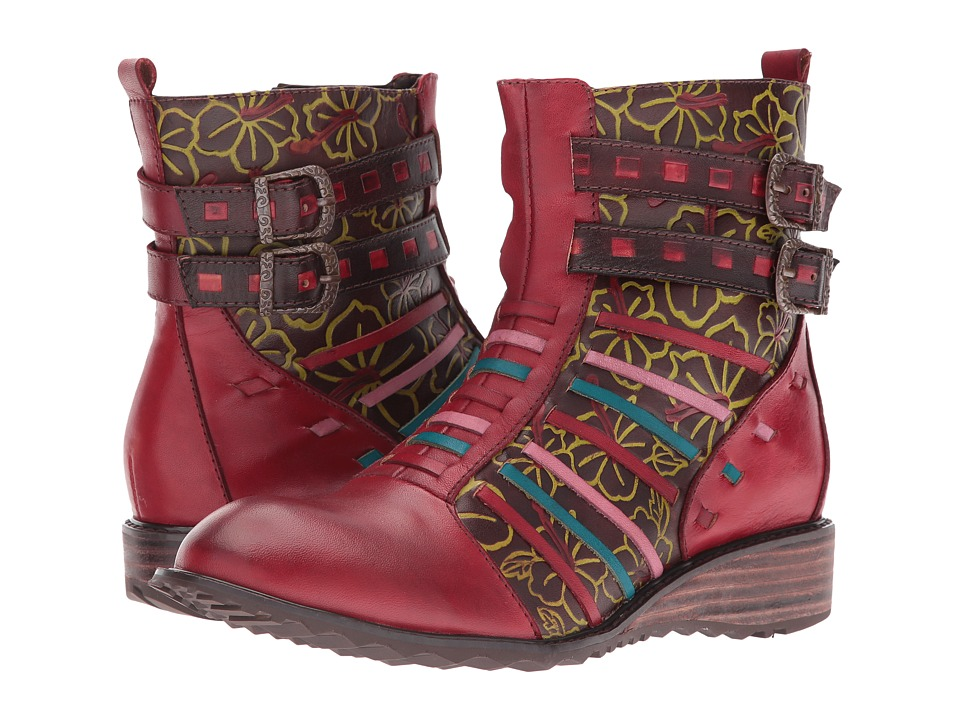 Spring Step - Dasha (Red) Women's Lace-up Boots