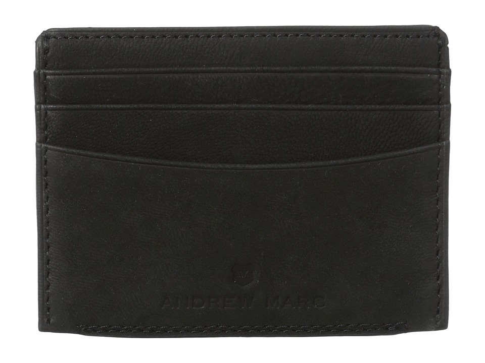 Marc New York by Andrew Marc - Sheridan Leather Card Carrier (Black) Credit card Wallet