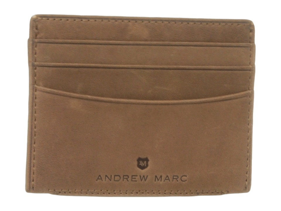 Marc New York by Andrew Marc - Warren Leather Card Carrier (Whiskey) Credit card Wallet