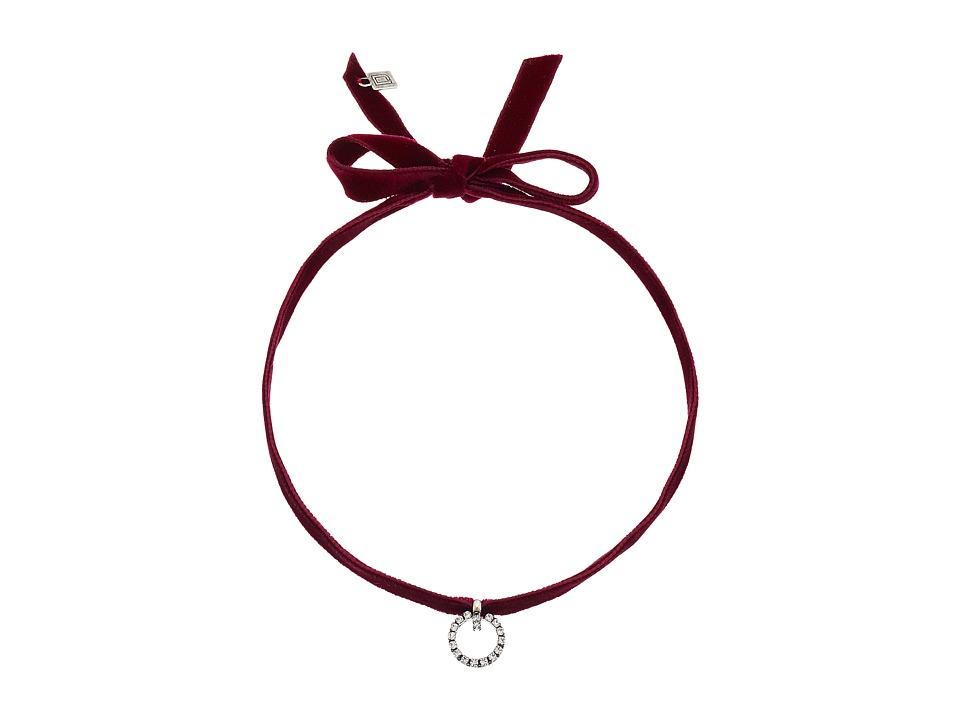 DANNIJO - VIX Necklace (Maroon) Necklace