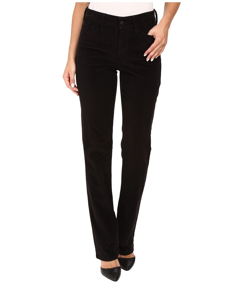 NYDJ - Marilyn Straight Jeans in Corduroy (Black) Women's Jeans