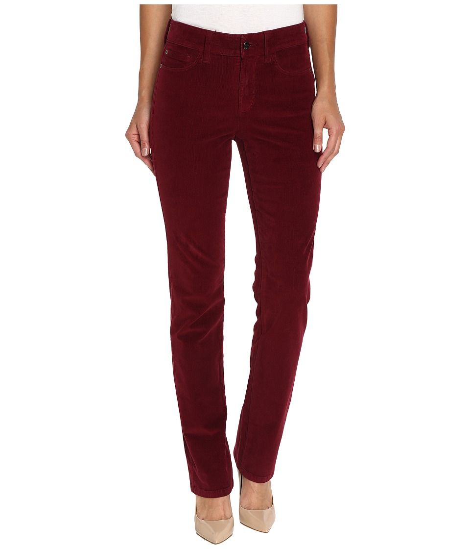 NYDJ - Marilyn Straight Jeans in Corduroy (Antique Ruby) Women's Jeans