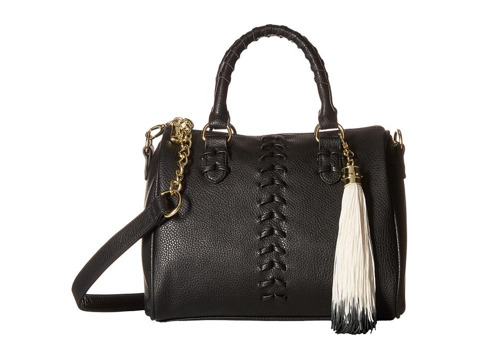 Steve Madden - Barrel Braid Stitch Satchel (Black) Satchel Handbags
