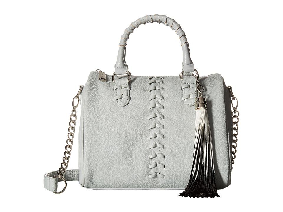 Steve Madden - Barrel Braid Stitch Satchel (Seafoam) Satchel Handbags