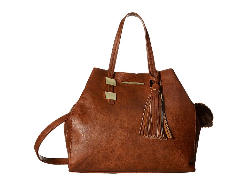 Steve Madden - Blovely3 Tote (Cognac) Tote Handbags
