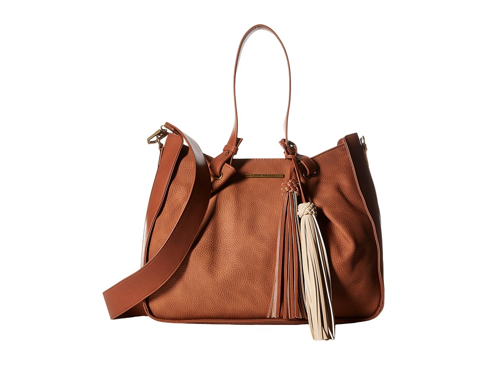 Steve Madden - Balex Satchel (Cognac/Cognac/Taupe Tassels) Satchel Handbags