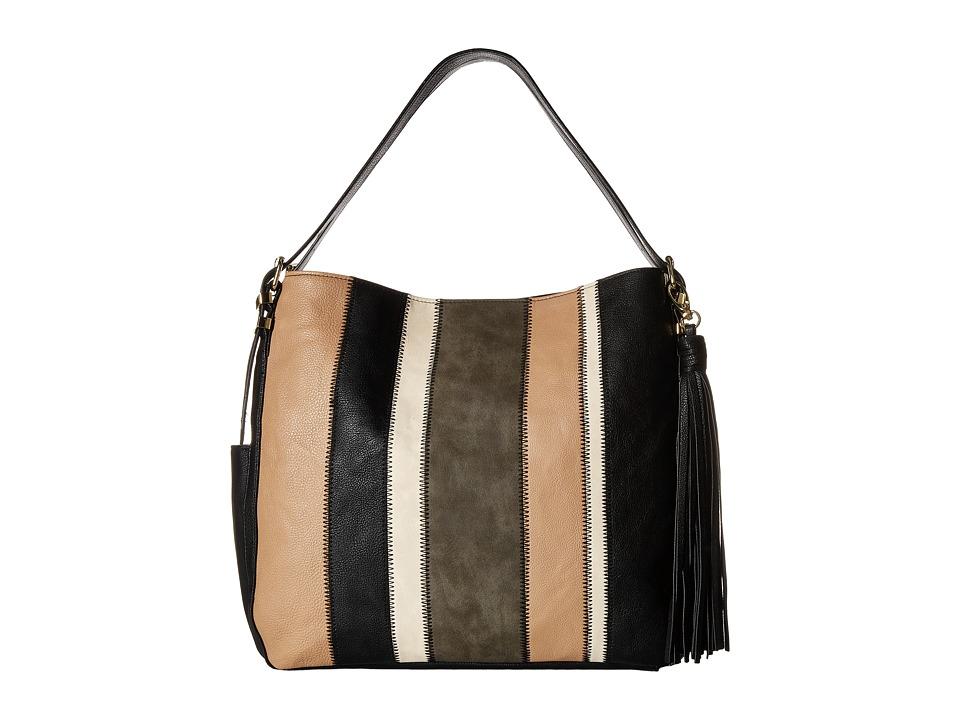 Steve Madden - Btoby Stripe Long Shoulder (Black/Taupe/Grey/Bone) Shoulder Handbags