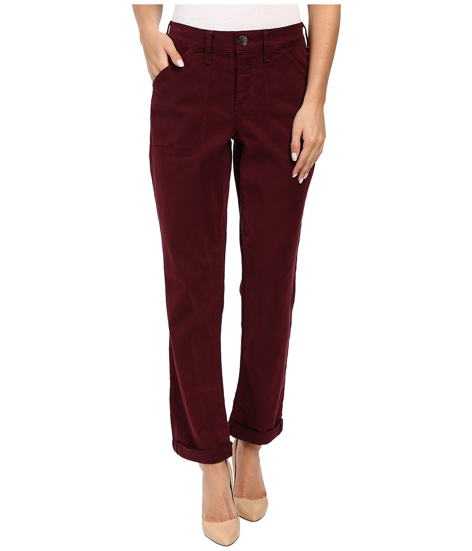 NYDJ - Reese Relaxed Jeans in Colored Chino (Syrah) Women's Jeans