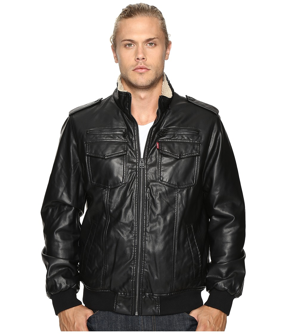 Levi's(r) - Trucker Two-Pocket Aviator Bomber (Black) Men's Coat