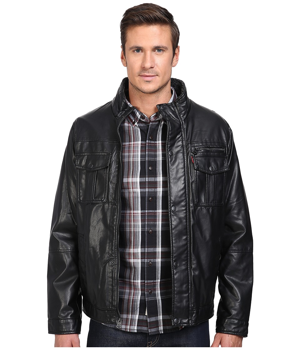 Levi's(r) - Trucker Two-Pocket Stand Collar Jacket (Black) Men's Coat
