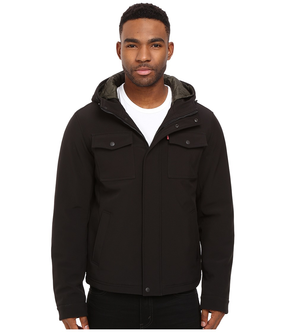 Levi's(r) - Two-Pocket Trucker w/ Double Hood (Black/Army Green) Men's Coat