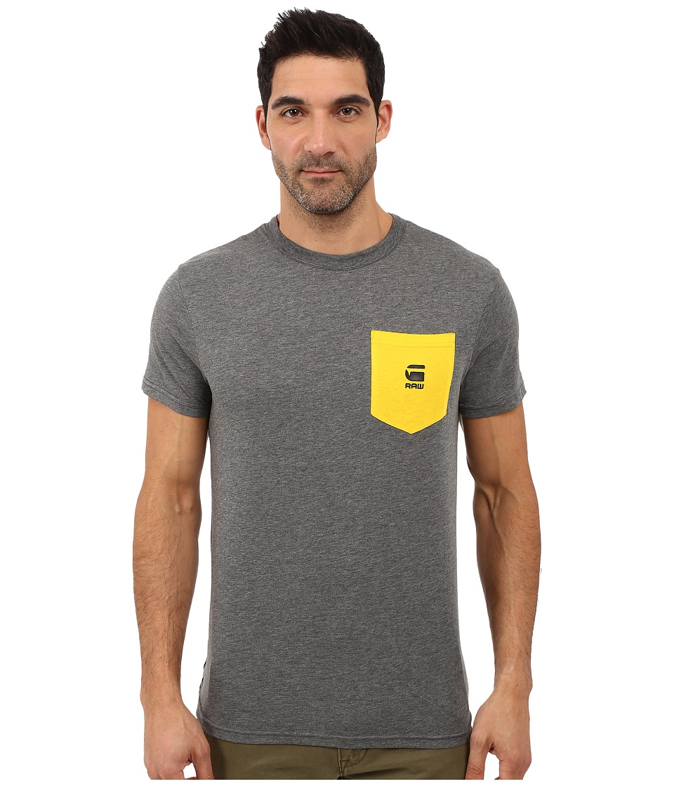 G-Star - Yarek Contrast Pocket Tee in NY Jersey (GS Grey Heather) Men's T Shirt