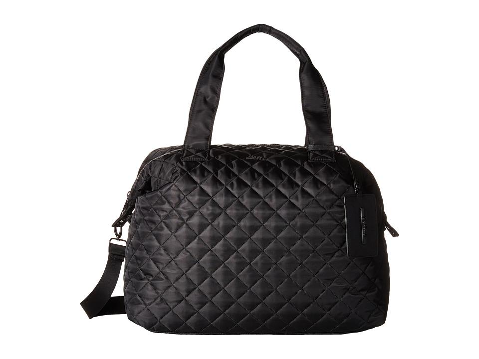 Steve Madden - Quilted Nylon Weekender (Black/Matte Black) Weekender/Overnight Luggage