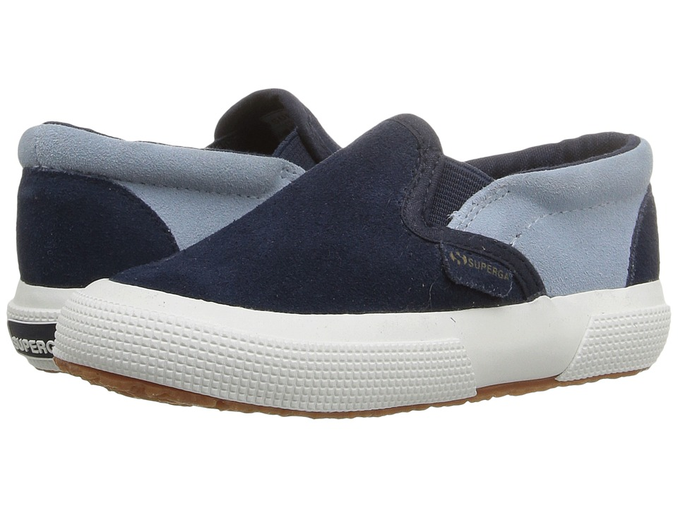 Superga Kids - 2317 SUEJ (Infant/Toddler/Little Kid/Big Kid) (Blue/Relax Blue) Kid's Shoes