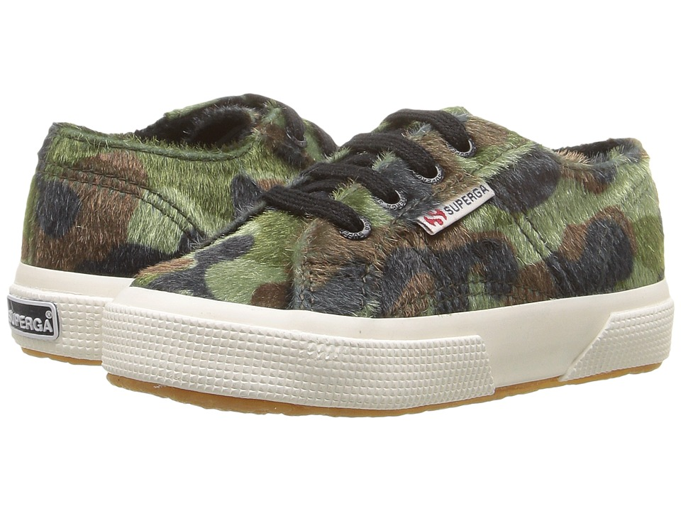 Superga Kids 2750 Synthetic Horse Camo J (Infant/Toddler/Little Kid/Big Kid) (Green Multi) Kid