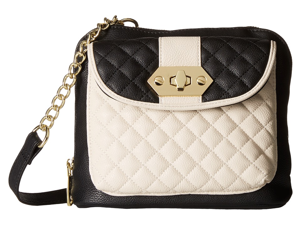 Steve Madden - Bgabby Crossbody (Black/Bone) Cross Body Handbags
