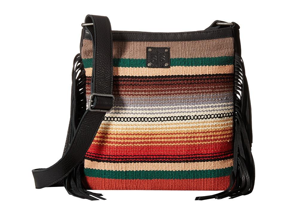 STS Ranchwear - The Ponderosa Crossbody (Black Fringe) Cross Body Handbags