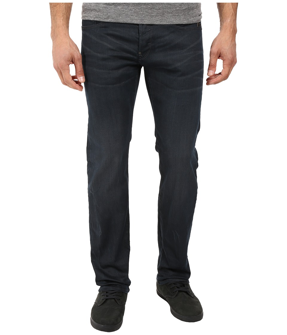G-Star - Attacc Straight Fit Jeans in Doter Grey Stretch Denim Dark Aged (Dark Aged) Men's Jeans